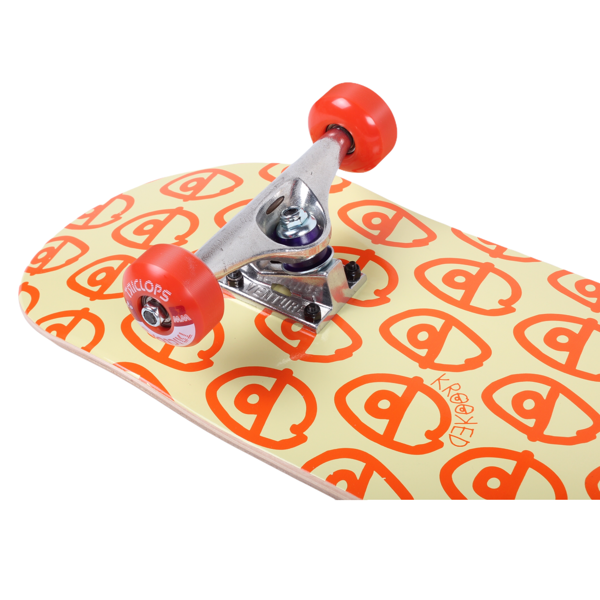 "Krooked Eyes PP Standard Skateboard Complete 8.38"" (With Free Skate Tool)"