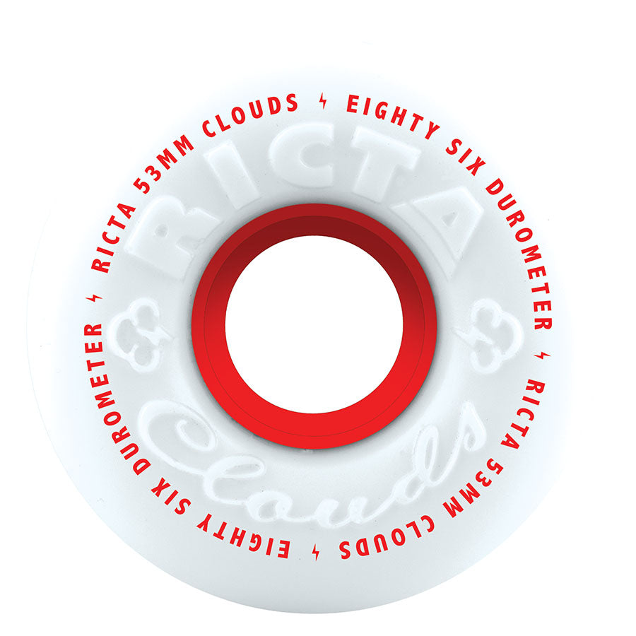 Ricta Wheels Clouds  86a Red 53mm