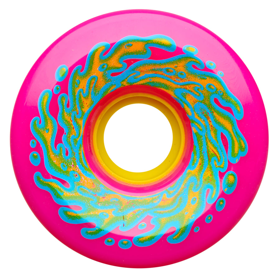 Santa Cruz Wheels OG Slime Neon Pink Yellow 78A Slime Balls 66mm