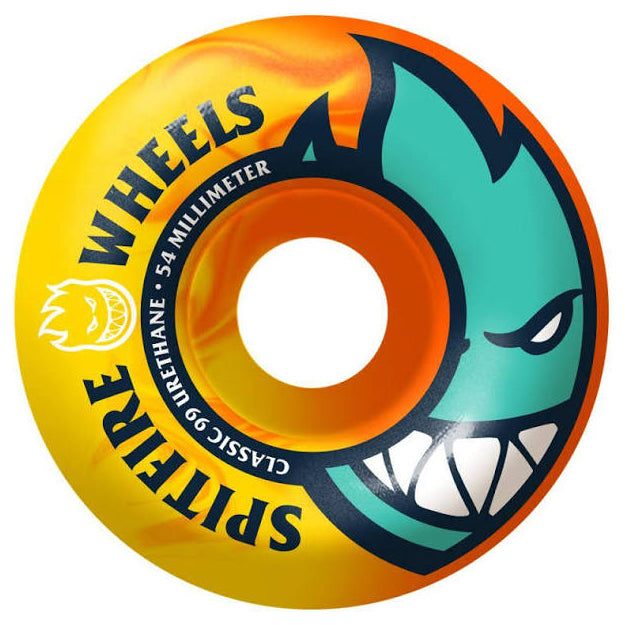 Spitfire Wheels Bighead 99a Neon Orange/Yellow 52mm