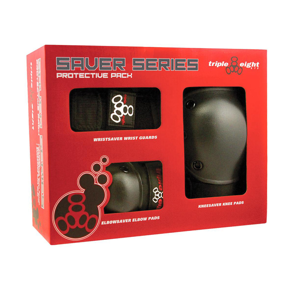 Triple 8 Saver Series 3 Pack Pad Set