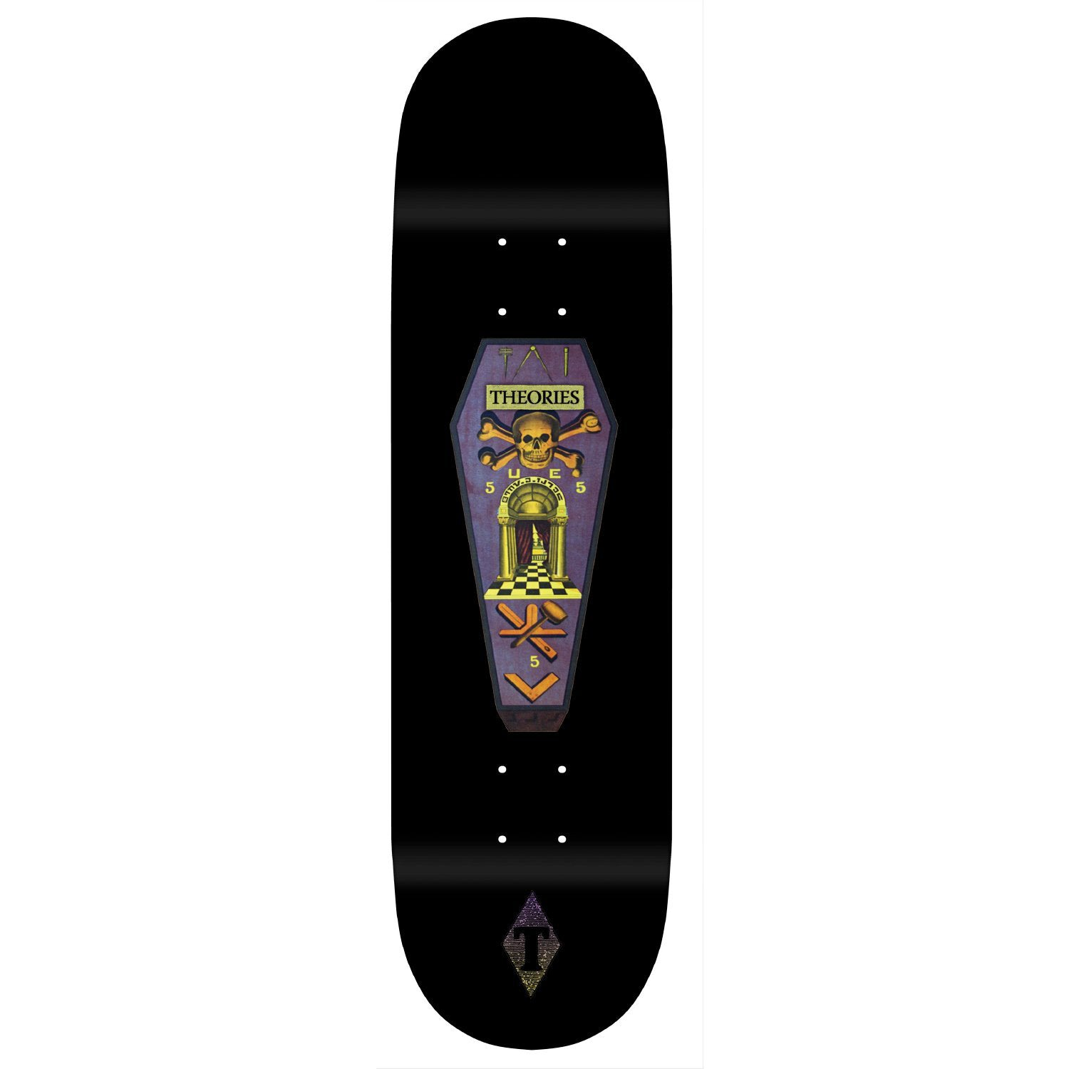 Theories Skate Coffin Deck 8.25""