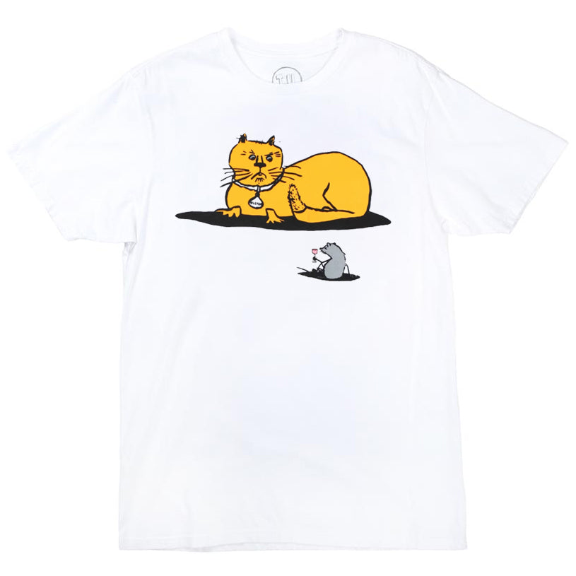 Transportation Unit Cat & Mouse Tee White