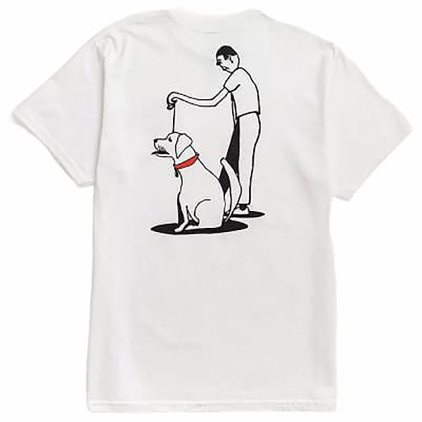 Transportation Unit Dog Walker Tee White