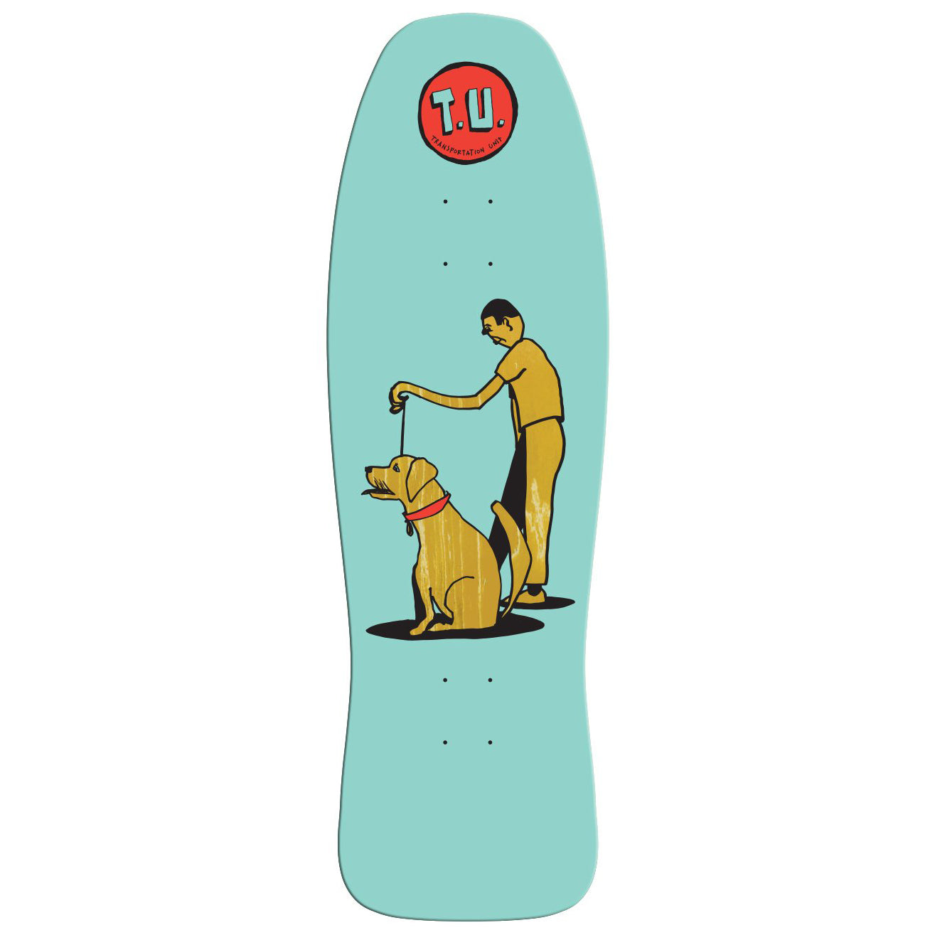 Transportation Unit Dog Walker Shaped Deck 9.85