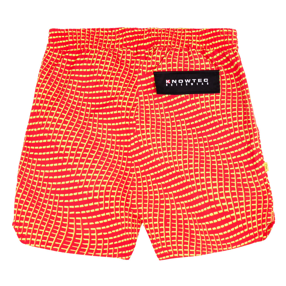 Dime Warp Shorts Red