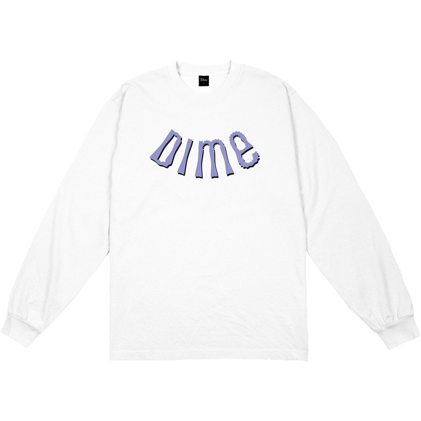 Dime Whirl Long Sleeve Tee White
