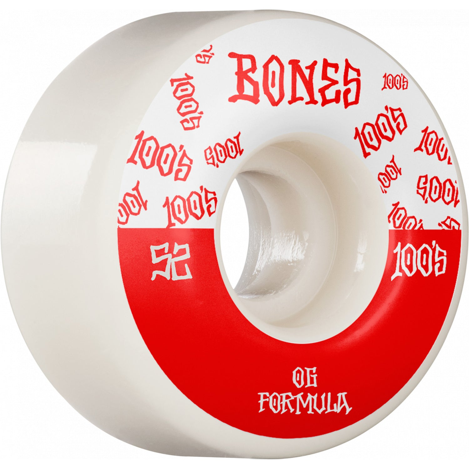 Bones Wheels 100's #13 V4 Wide White 52mm