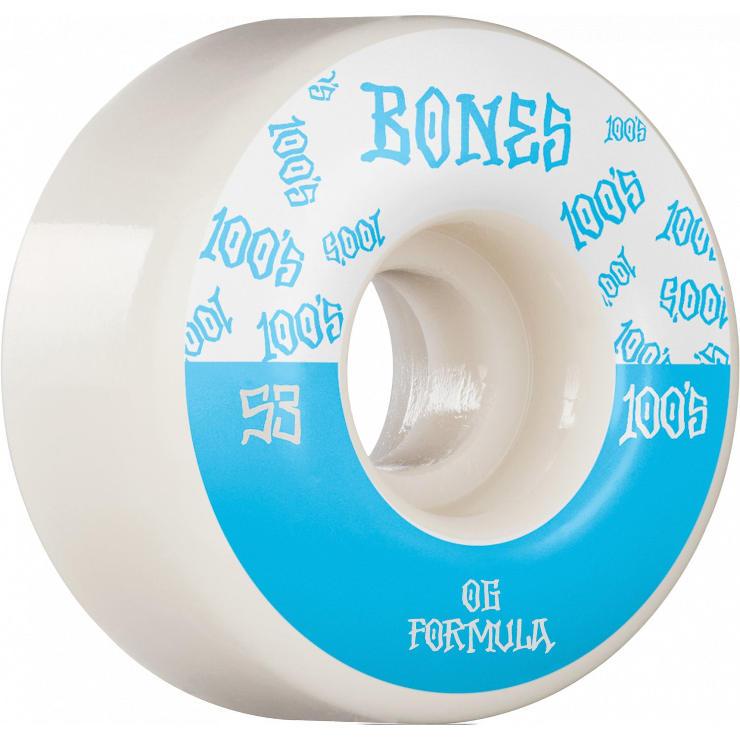 Bones Wheels 100's #13 V4 Wide White 53mm