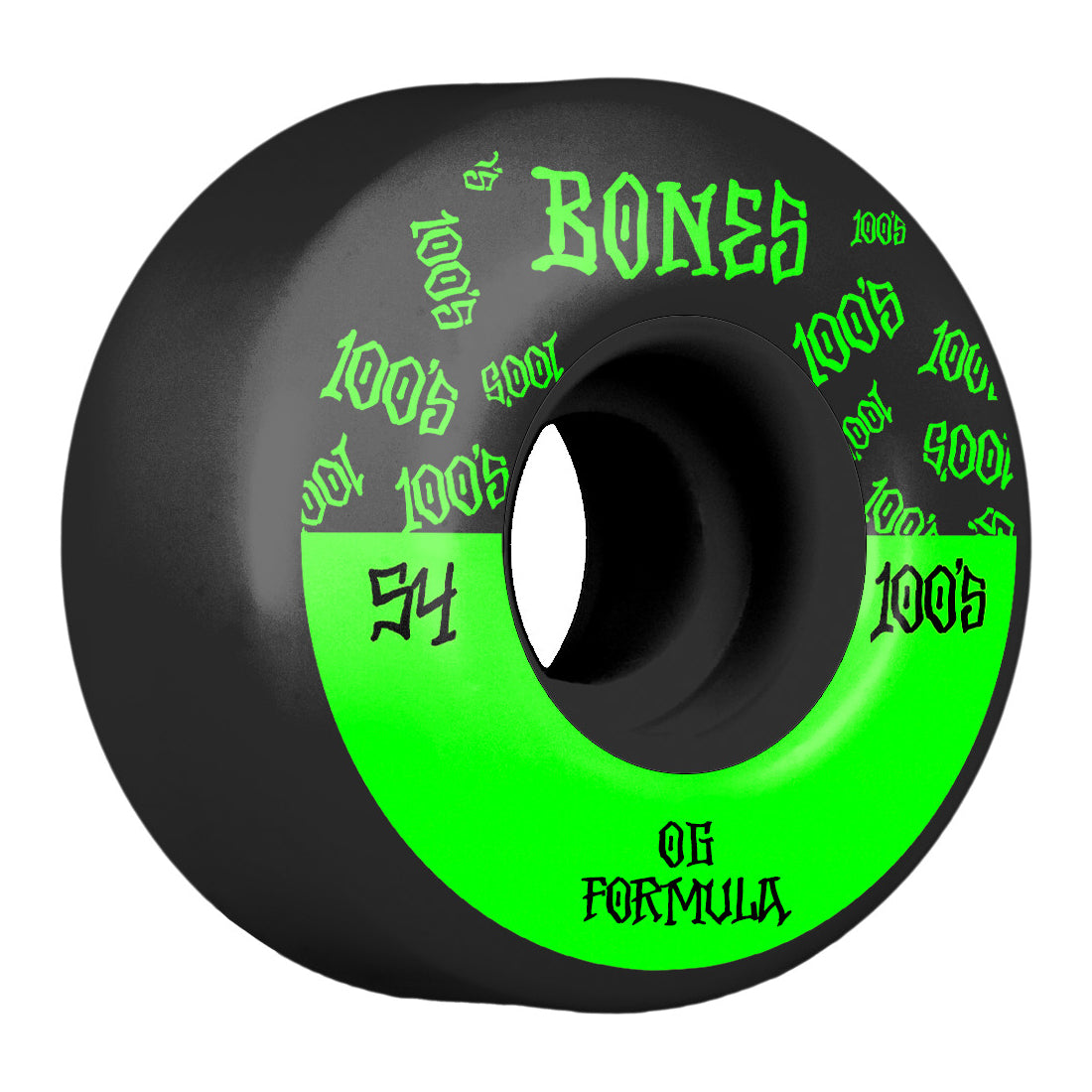 Bones Wheels 100's #13 V4 Wide Black 54mm