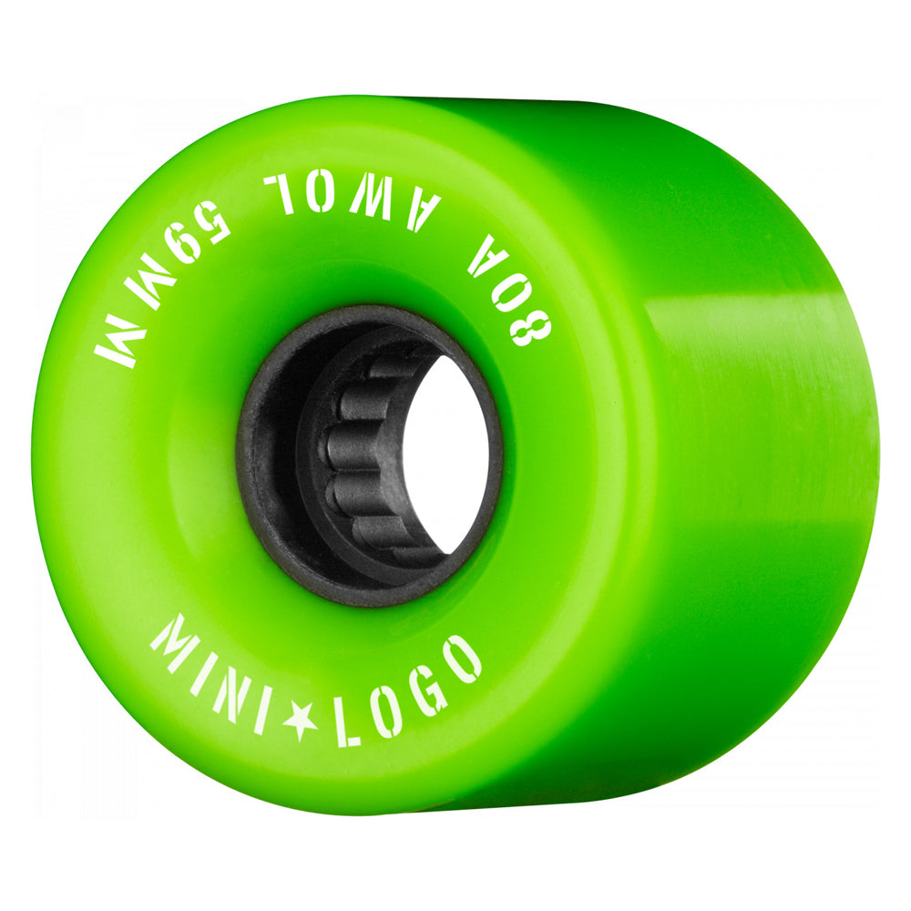 Mini Logo Wheels AWOL Green 80A 59mm