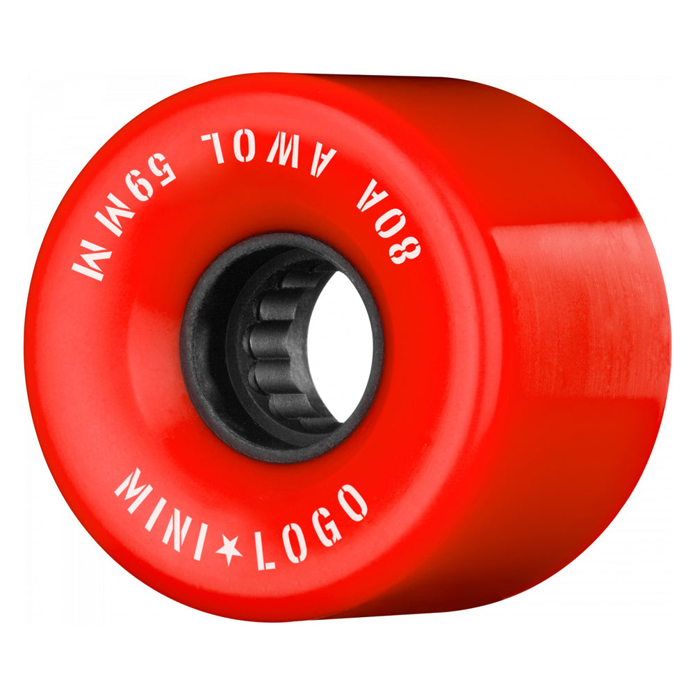 Mini Logo Wheels AWOL Red 80a 59mm