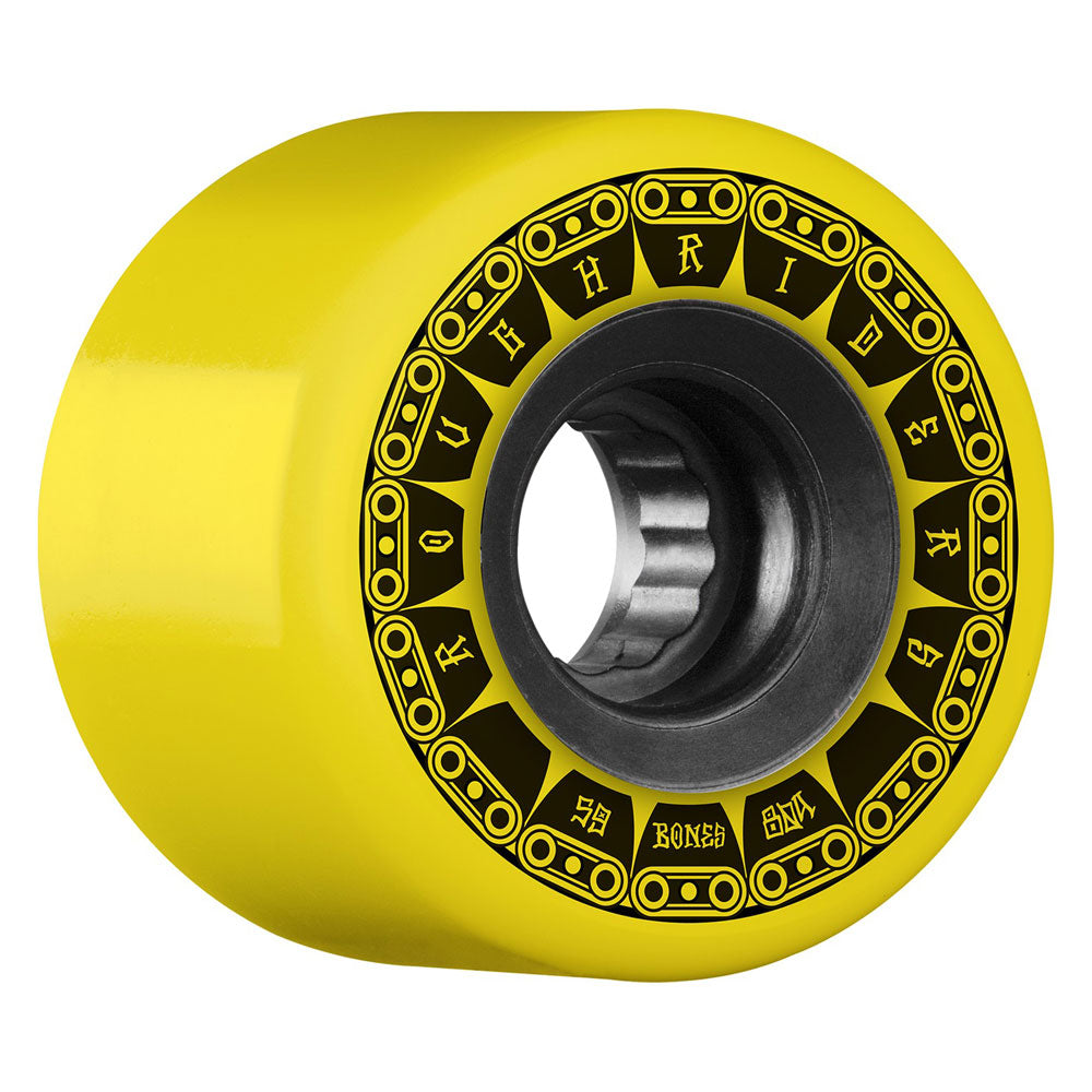 Bones Wheels Rough Riders Tank 59mm Yellow ATF