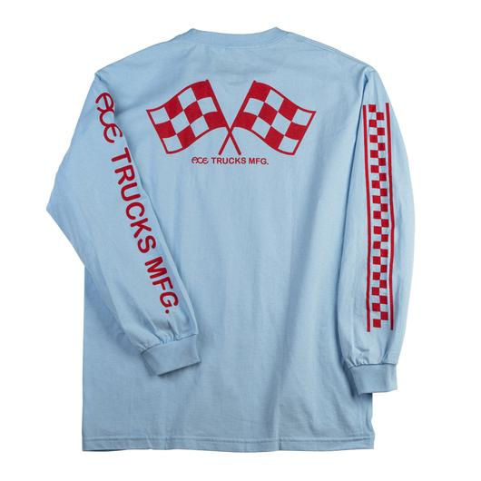 Ace Trucks New Jersey Long Sleeve Tee Powder Blue
