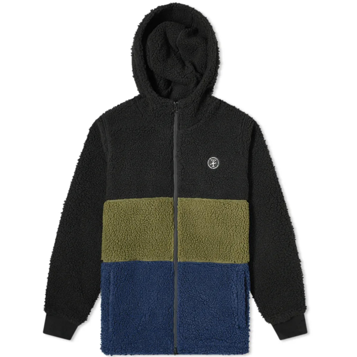 Alltimers Jacket Cousins Hooded Sherpa Black/Green