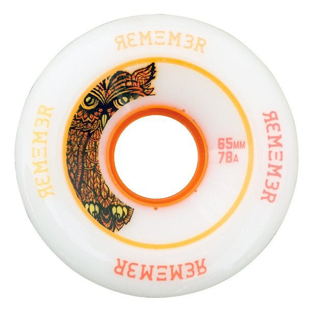 Remember Wheels Hoot Slide 65mm 78a White