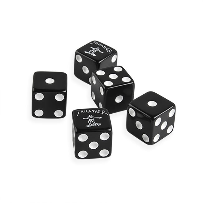 Thrasher Dice Set Black