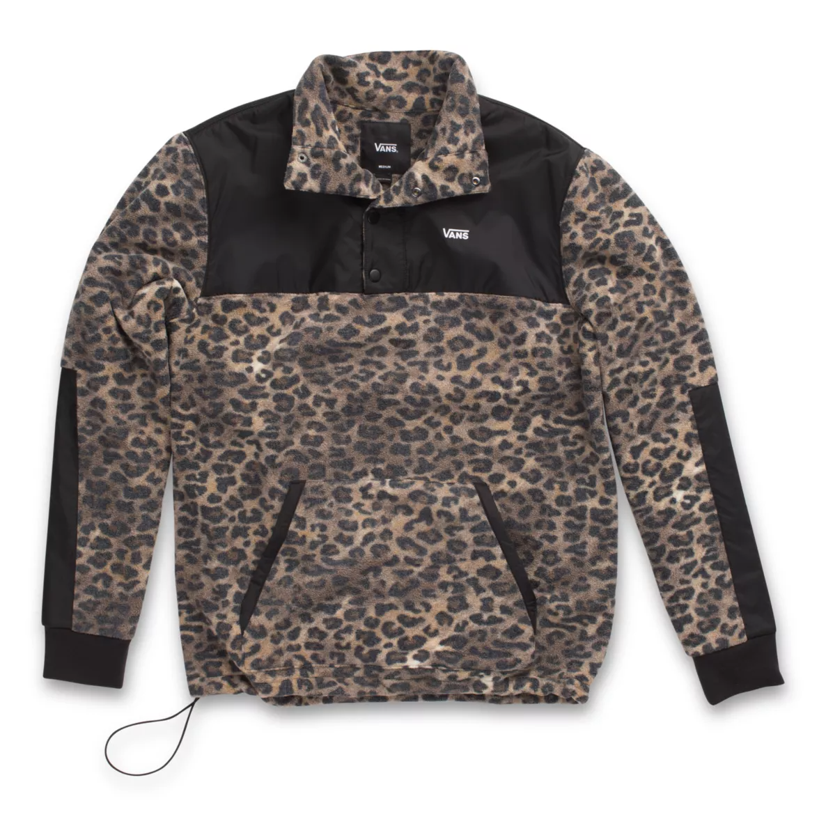 Vans Check Me Out Anorak Pullover Leopard Print