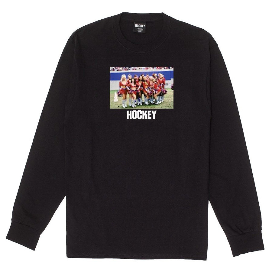 Hockey Cheerleader Longsleeve Tee Black