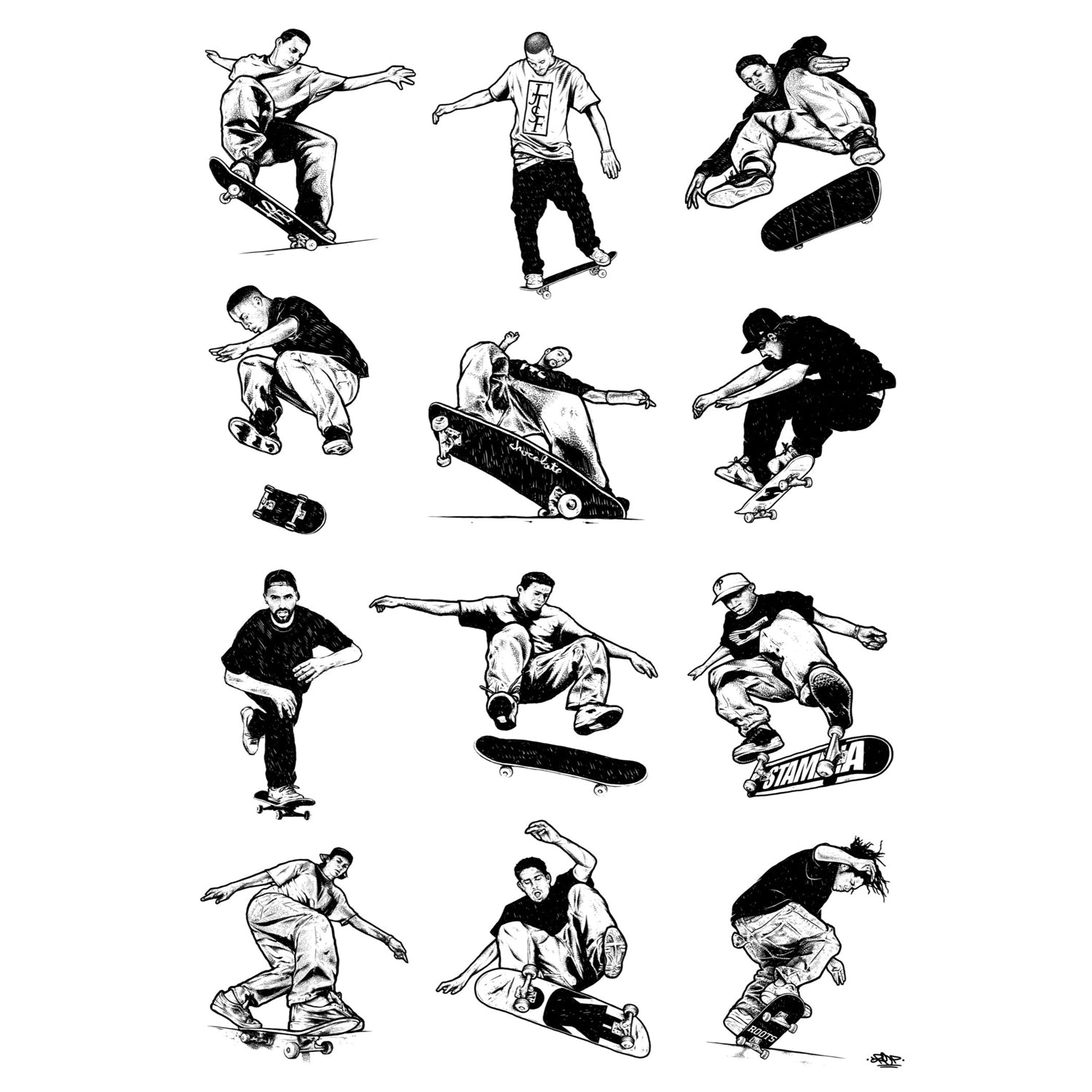 Deckaid Your Favorite Skaters Silkscreen Print by Drop Art