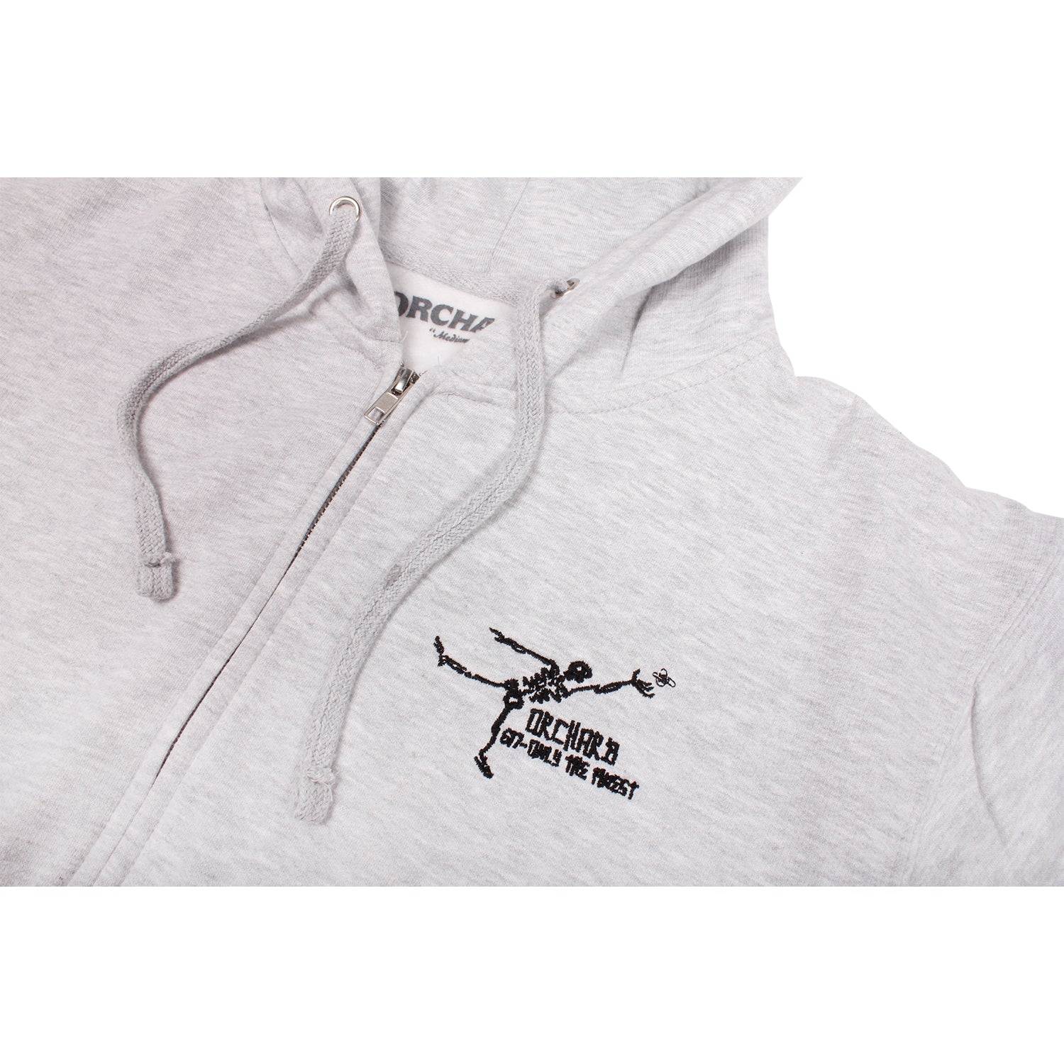 Orchard Gonz Only The Finest Zip Up Hooded Sweatshirt Ash