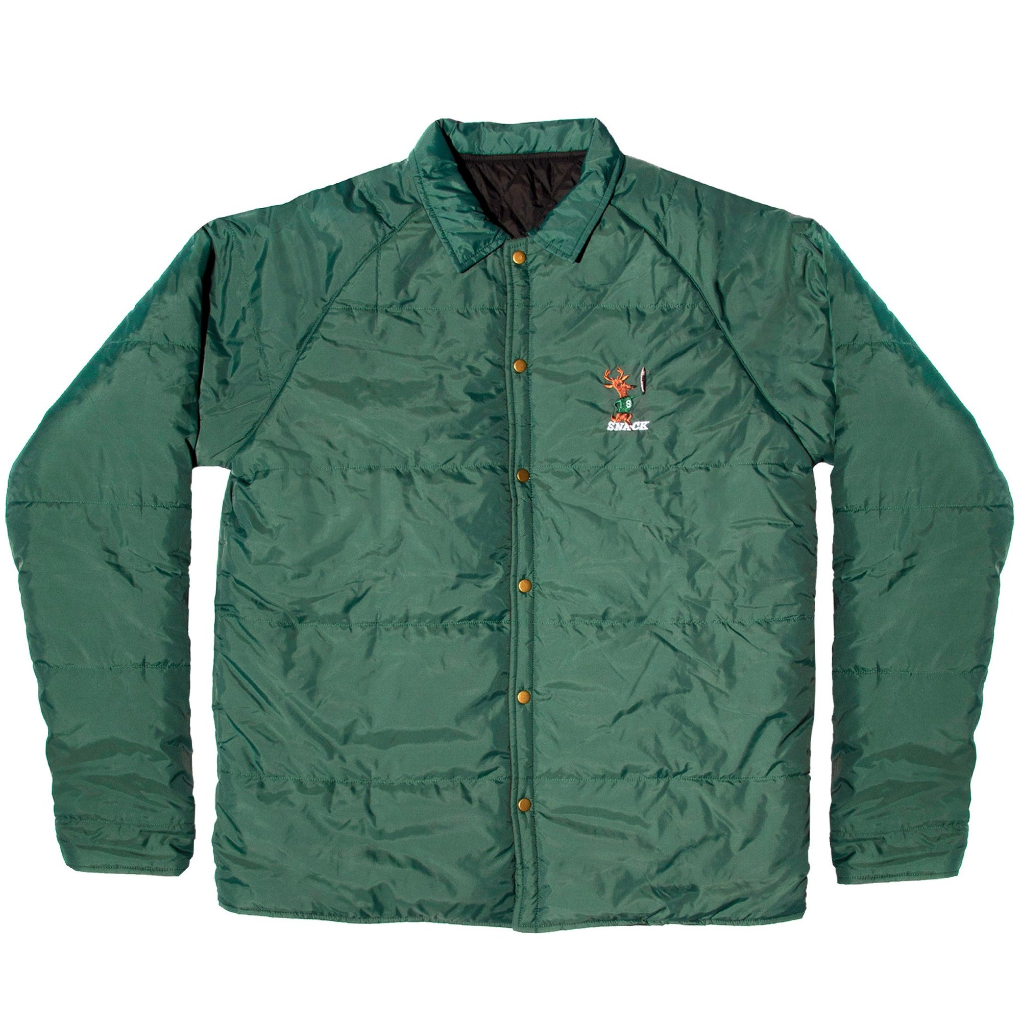 Snack Hardwood Reversible Puff Jacket Green/Black