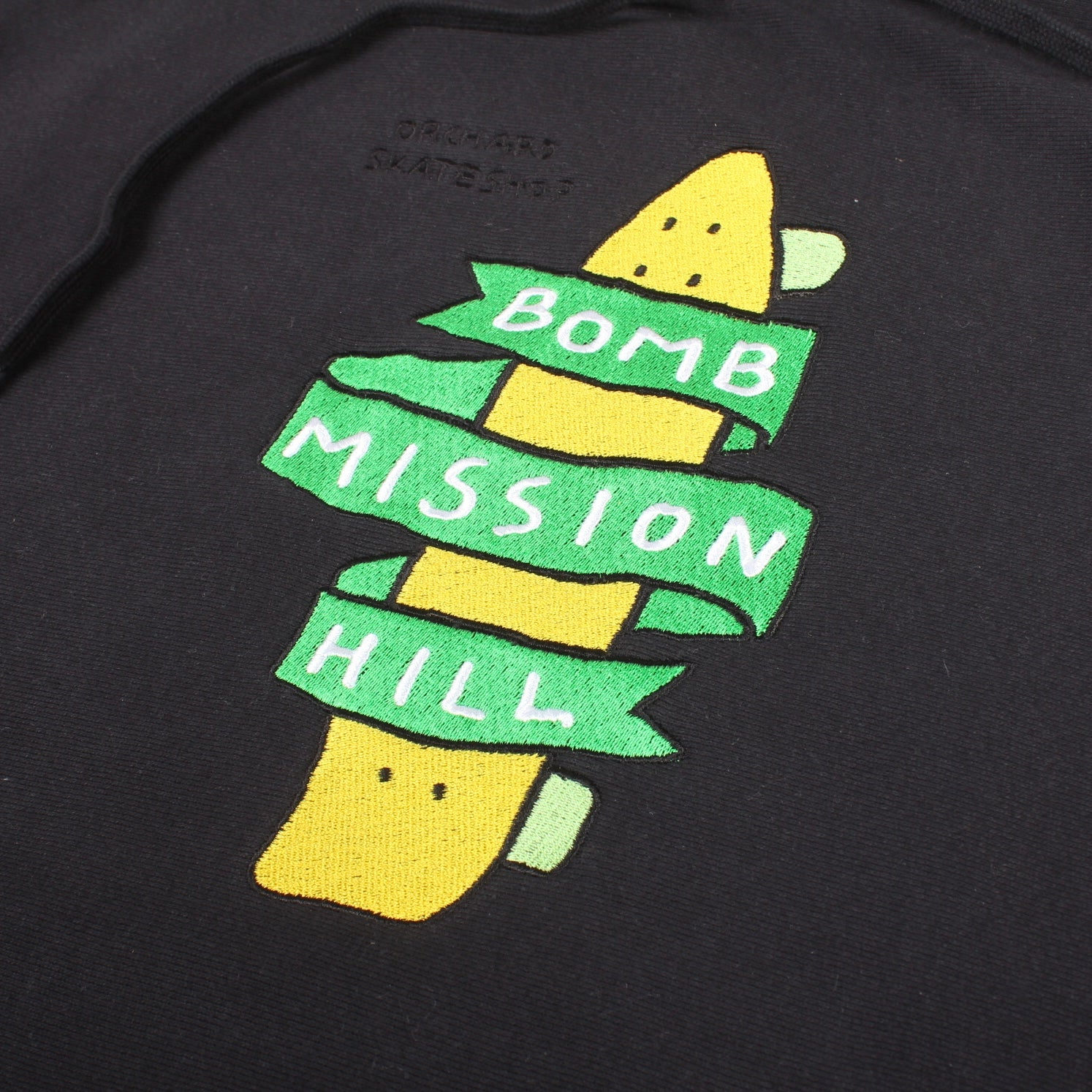 Orchard Bomb Mission Hill 15th Anniversary Hoodie Black Cross Weave