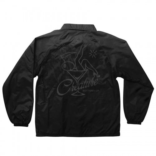 Creature Bottoms Up Coach Windbreaker Black