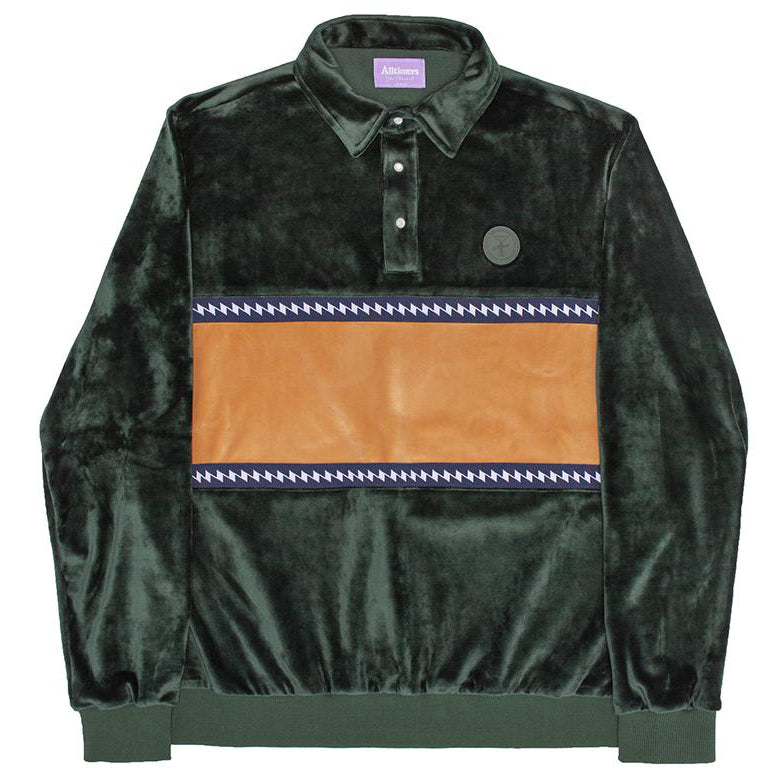 Alltimers J-Waves Velour Top Forest Green