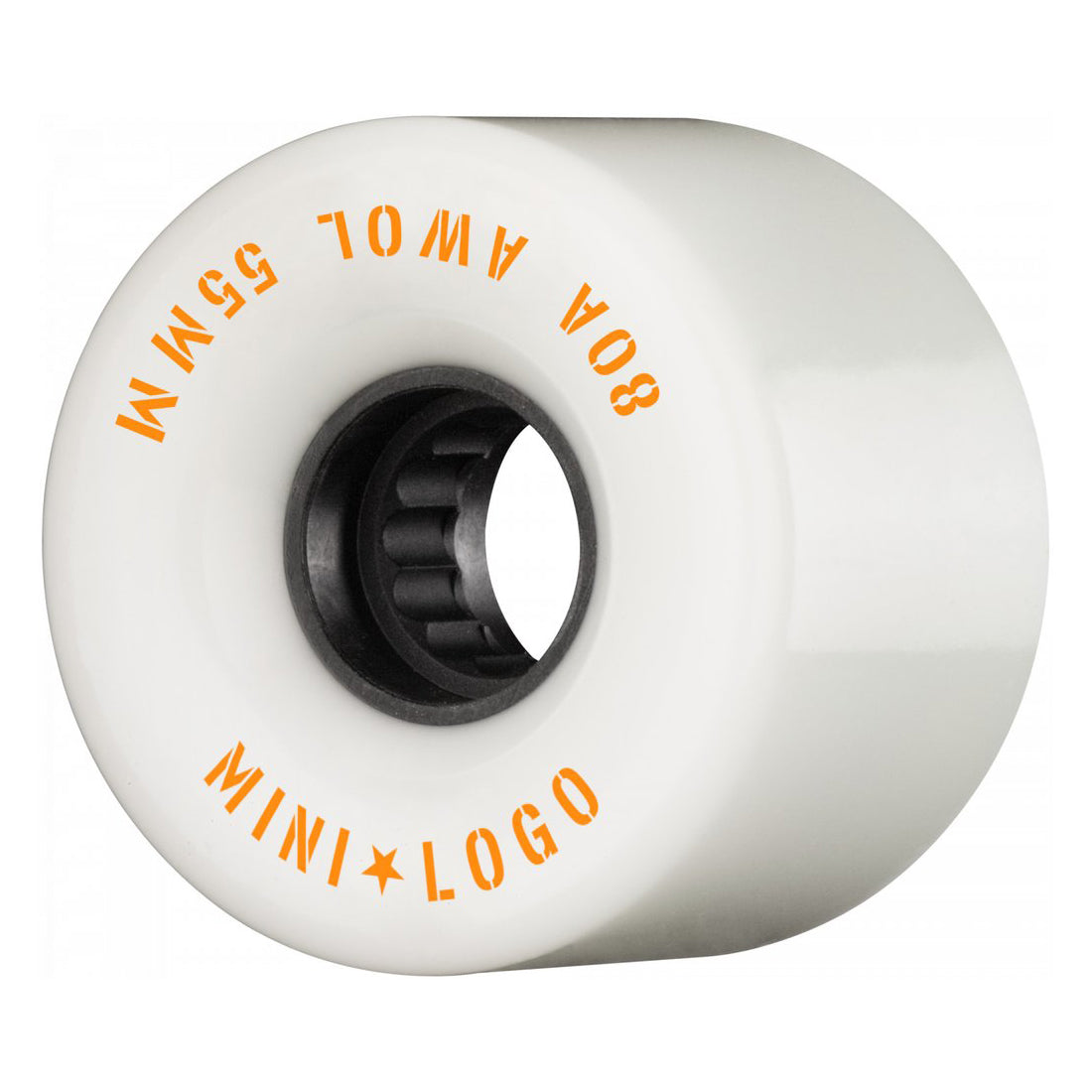Mini Logo Wheels AWOL White 80a 55mm
