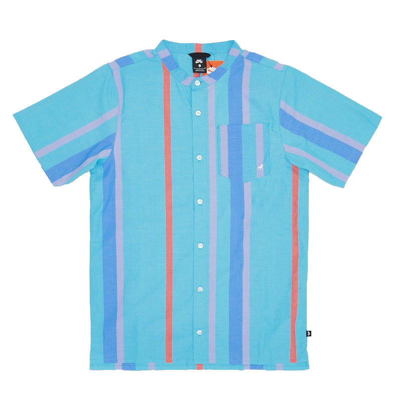 Nike SB ISO Top Button Up Kevin & Hell Oracle Aqua