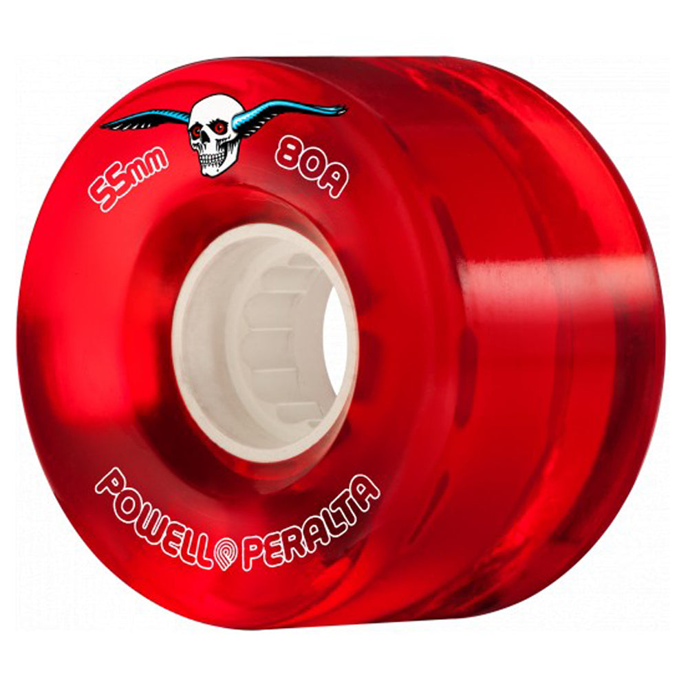 Powell Peralta Clear Cruiser Wheels 80a Red 55mm