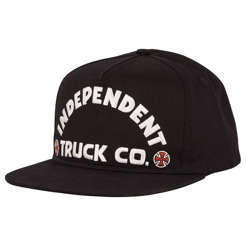 Independent Hat ITC Bold Black Snapback