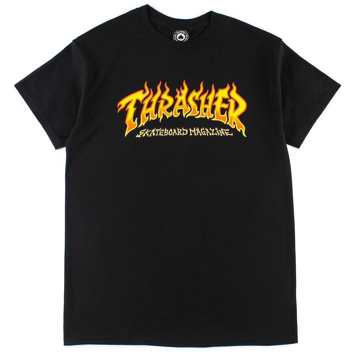 Thrasher Fire Logo Tee Black
