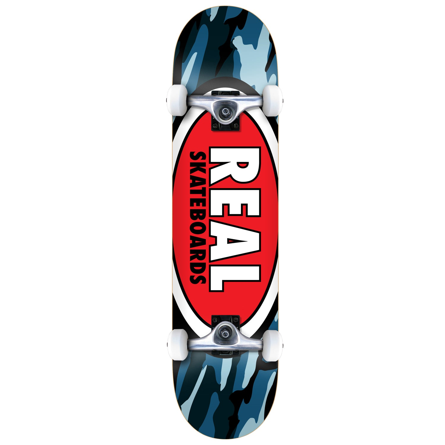 "Real Team Oval Camo Complete 7.3"" (With Free Skate Tool)"