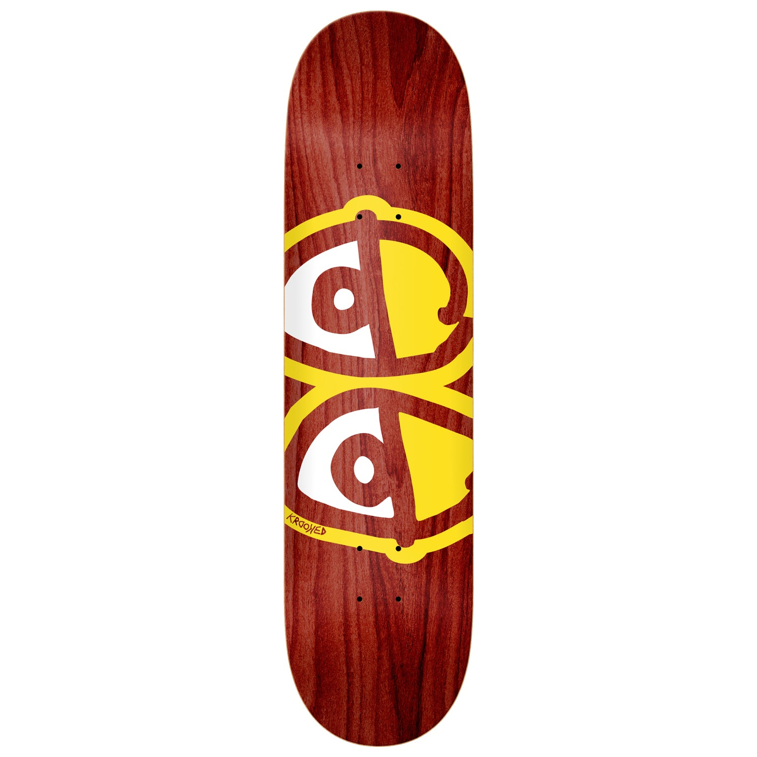Krooked Team Eyes Deck (Yellow/White) 8.38