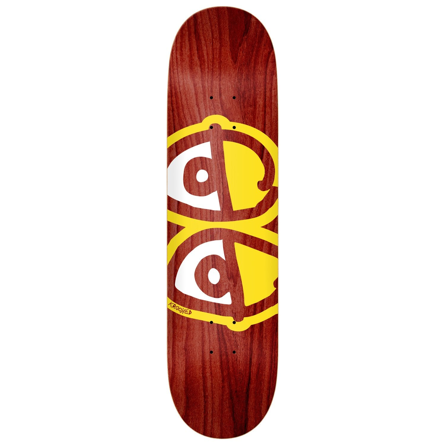 Krooked Team Eyes Deck (Yellow/White) 8.25