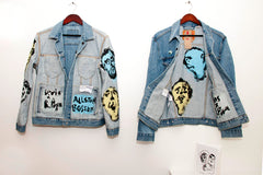 Levis X Russ Pope Hand Painted Denim Trucker Jacket
