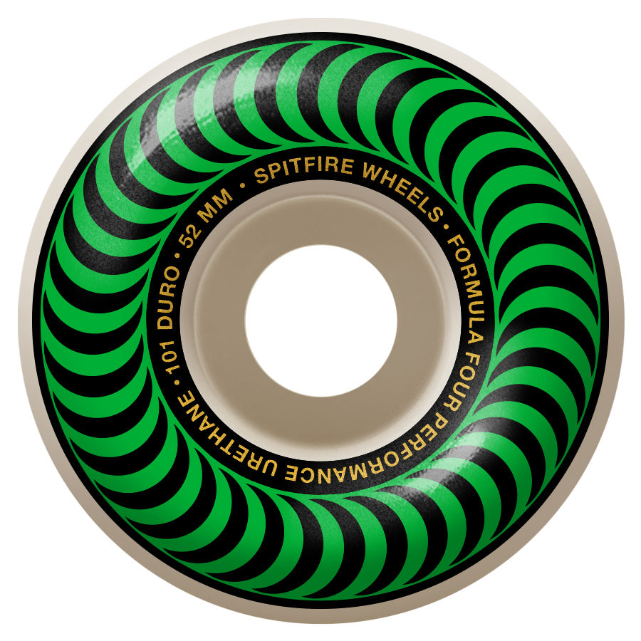 Spitfire Wheels Formula Four Classic 101 Green 52mm