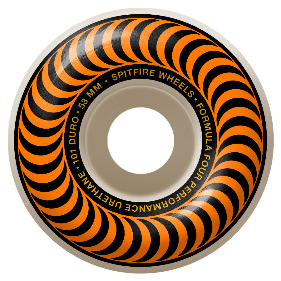 Spitfire Wheels Formula Four Classic Orange 53mm 101a