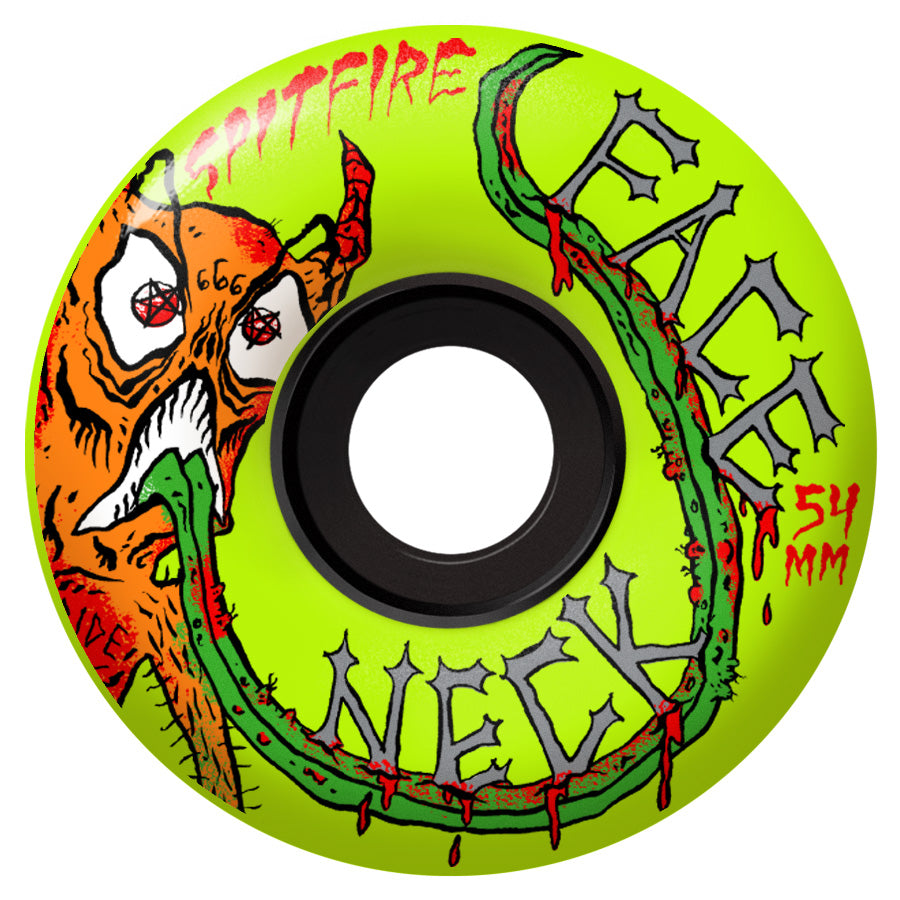 Spitfire Wheels 80HD Neckface Neon Yellow 54mm