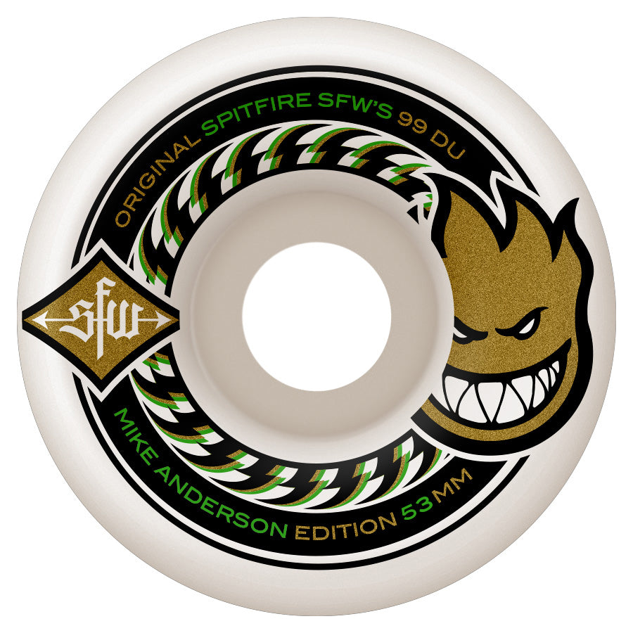 Spitfire Wheels Anderson SFW 2 White 53mm