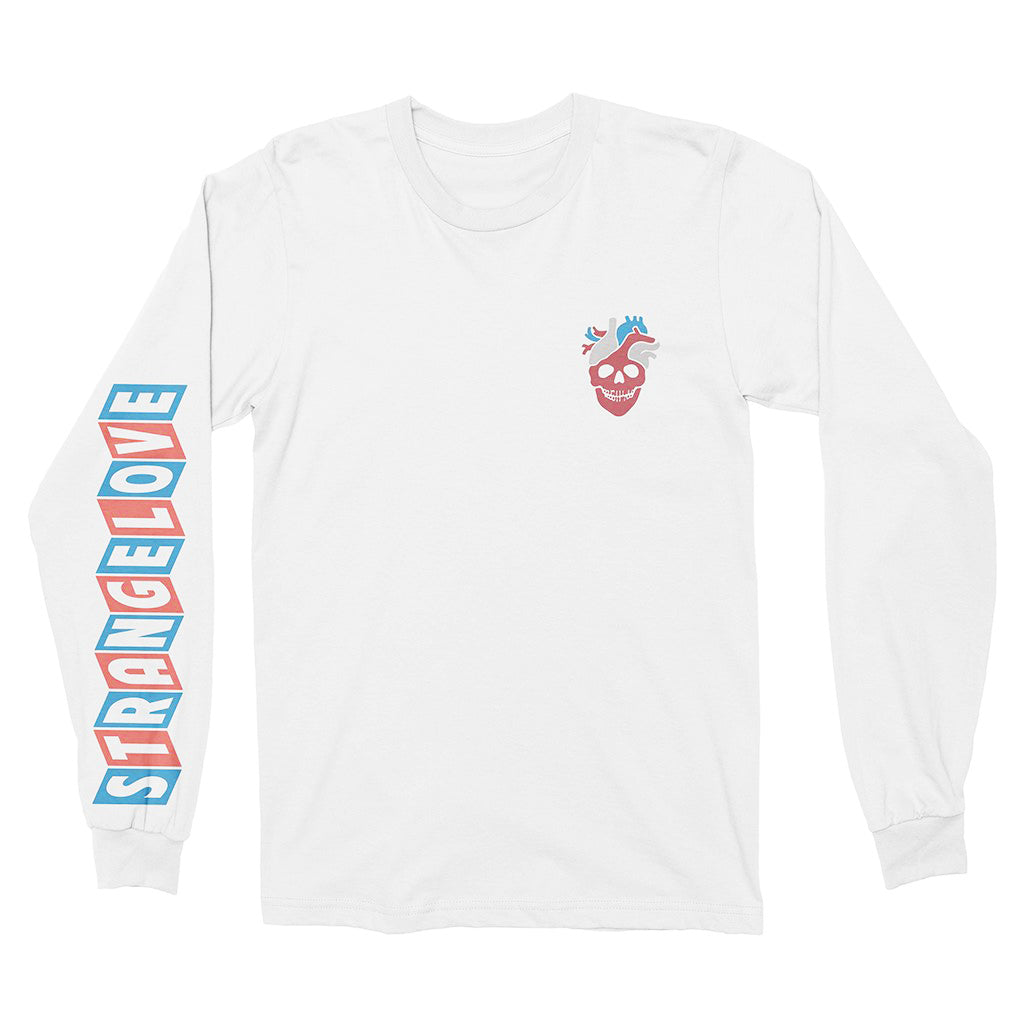 Strangelove Heart Long Sleeve Tee White