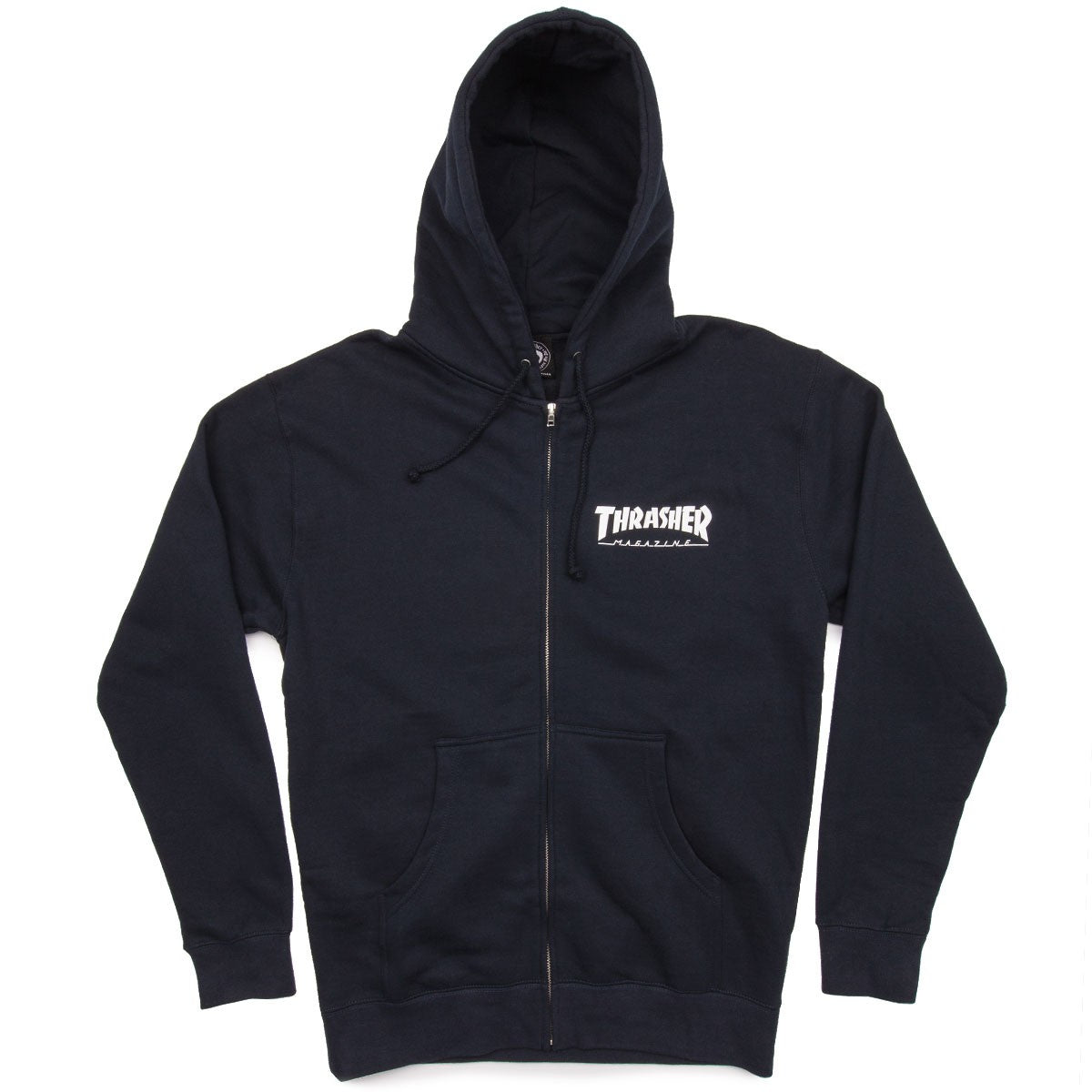 Thrasher Zip Hood Logo Navy