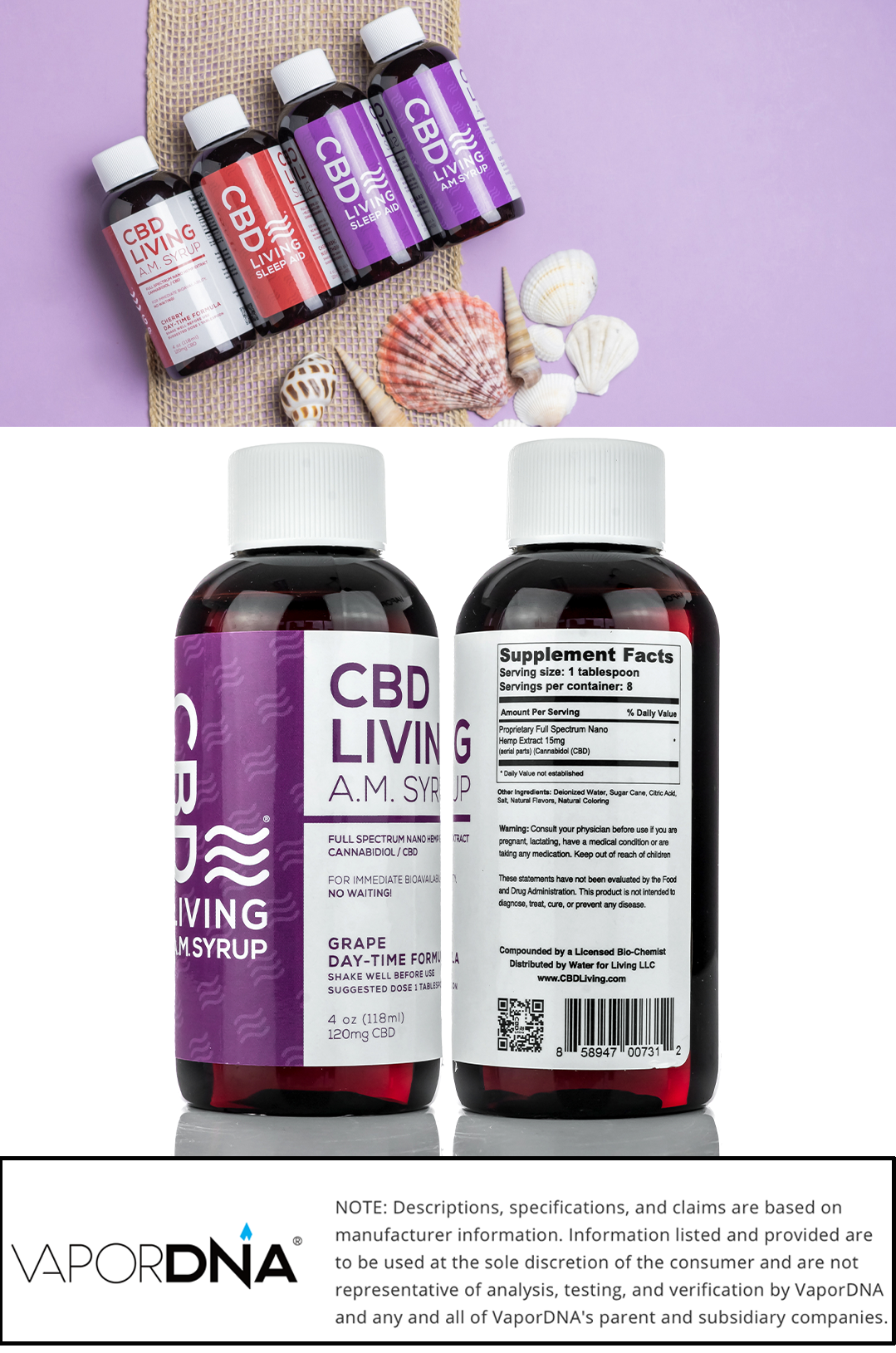cbd living am syrup grape