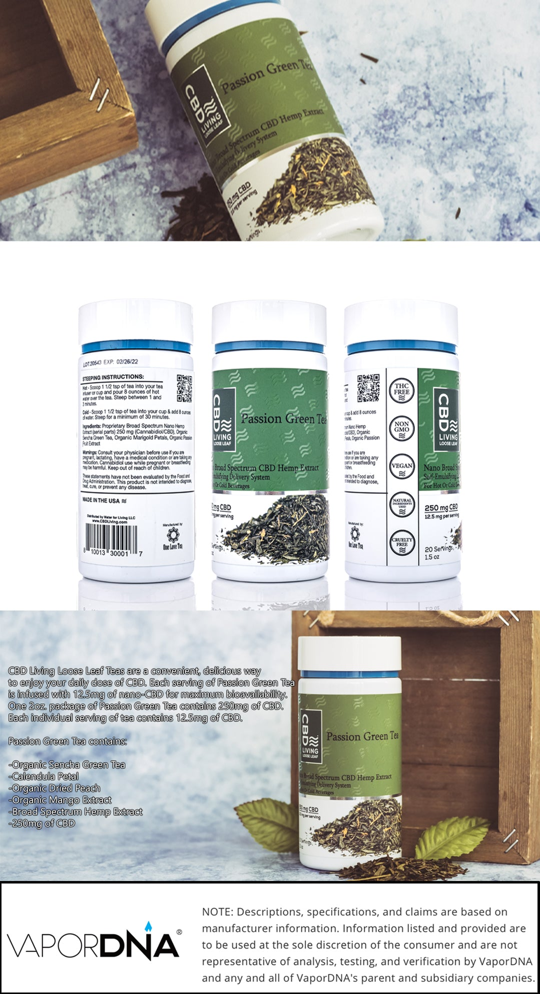cbd living loose leaf tea