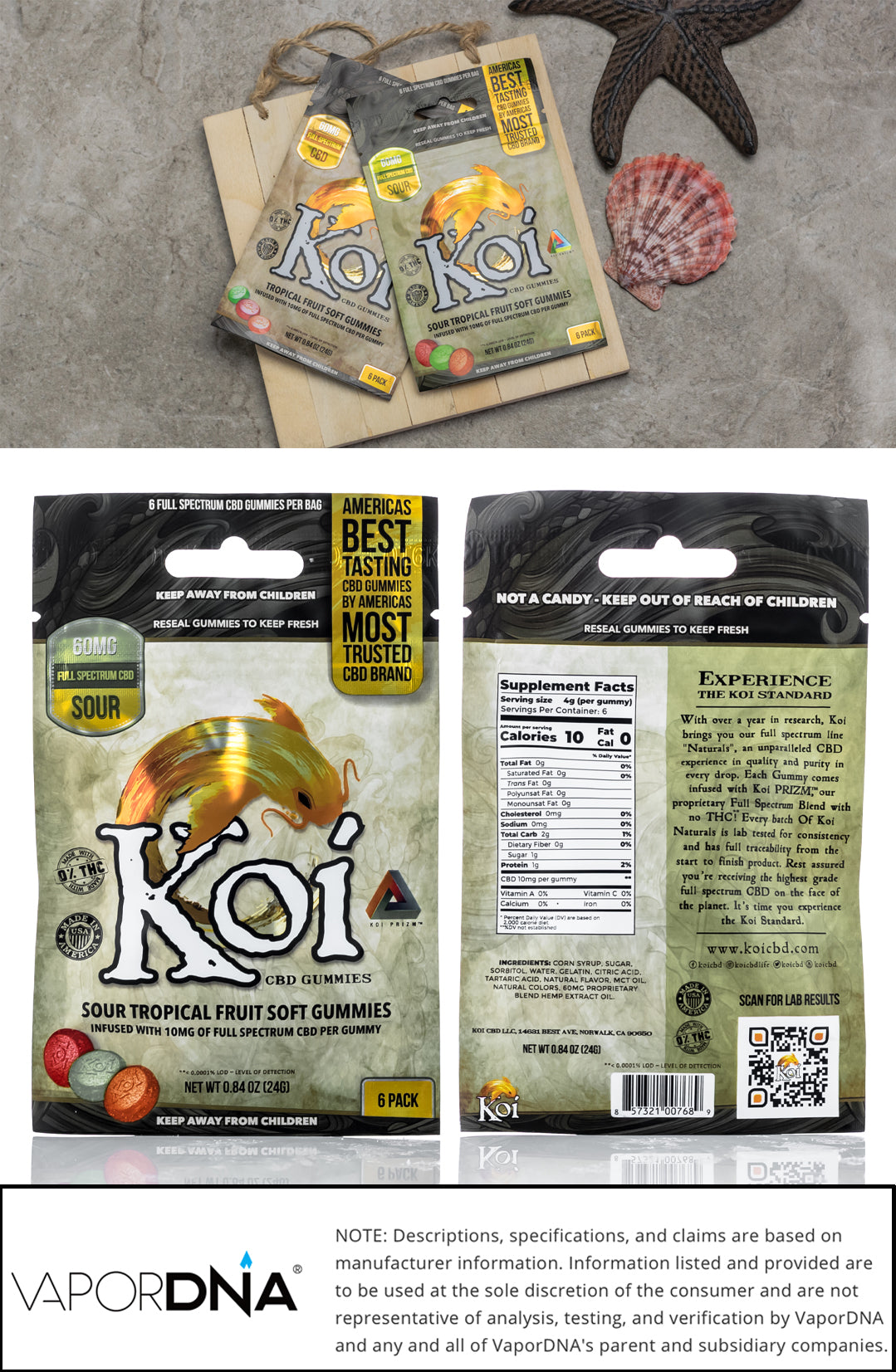 koi cbd gummies sour