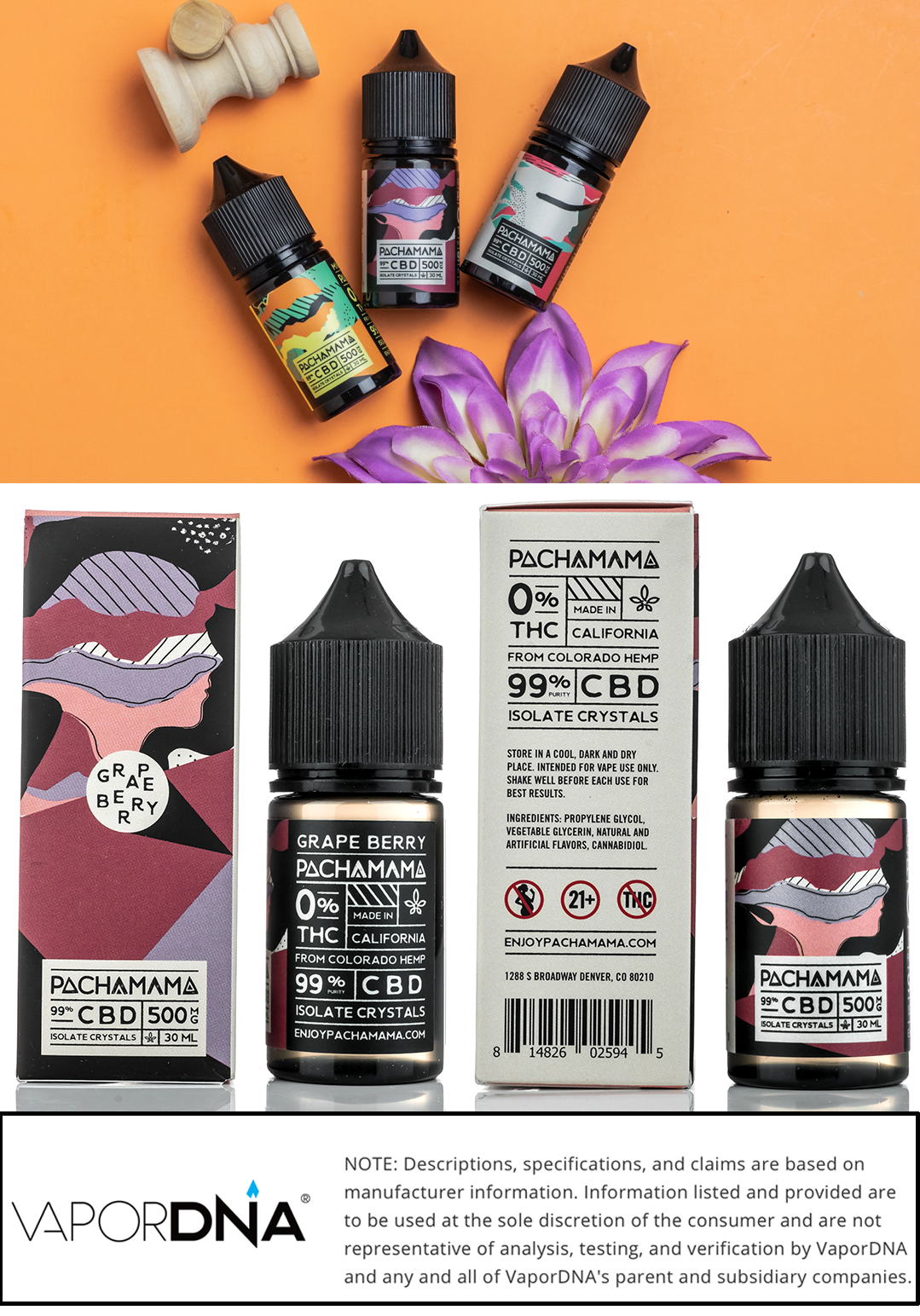 pachamama cbd vape juice infographic-grape berry
