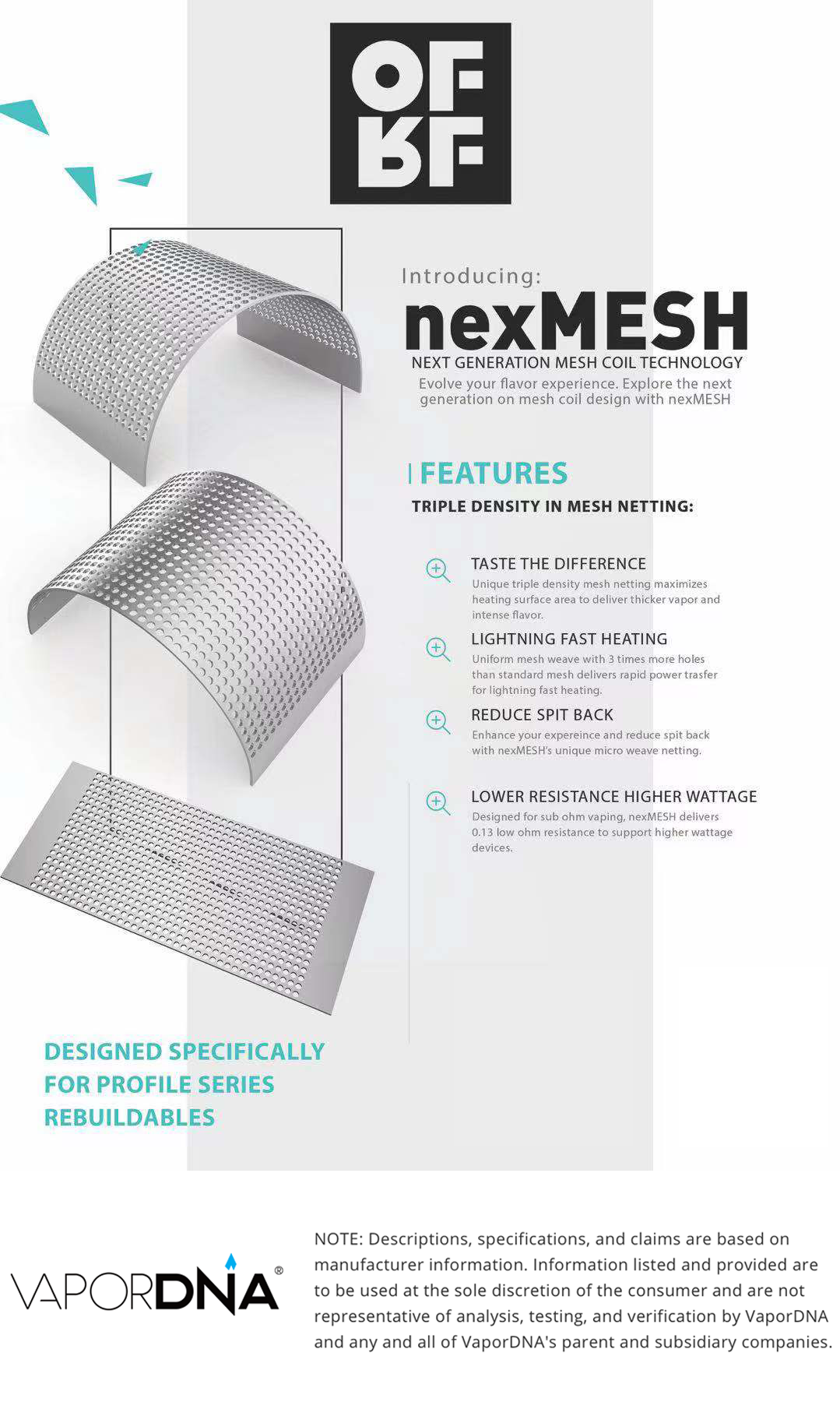 Resultado de imagem para OFRF nexMESH Rebuildable Mesh Sheet (Pack of 10) | For the Profile RTA