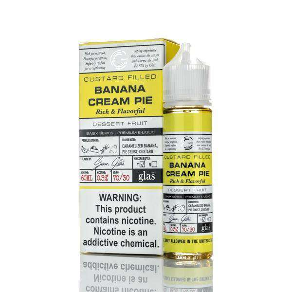 Glas E Liquid E Liquid 0mg Glas Basix E-Liquid - Banana Cream Pie - 60ml